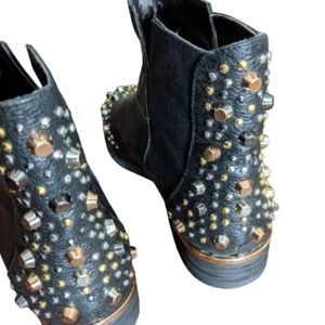 Modern Vice Studded Black Booties Size 6 1/2